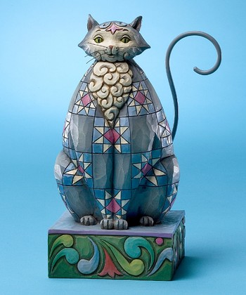 Gray Star Cat Figurine
