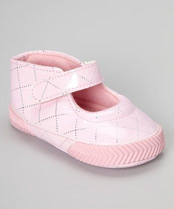 Pink Patent Quilted Mary Jane