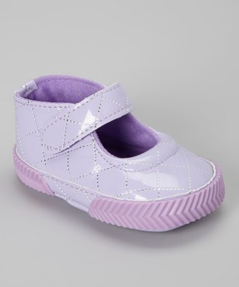 Purple Patent Quilted Mary Jane