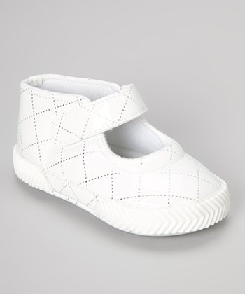 White Patent Quilted Mary Jane