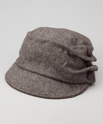 Brown Tweed Newsboy Cap