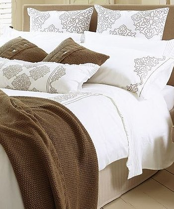 White Fraser Duvet Cover Set
