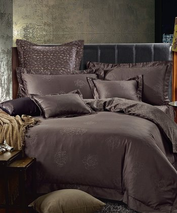 Gray Isabella Duvet Cover Set