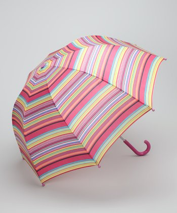 Pink Stripe Umbrella