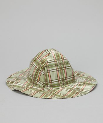 Green Plaid Rain Hat