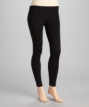 Black Ankle Leggings - Plus