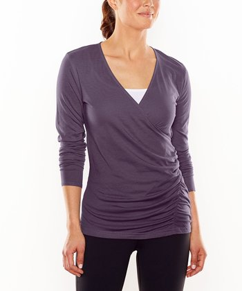 Mystical Defined Deep V Long-Sleeve Top
