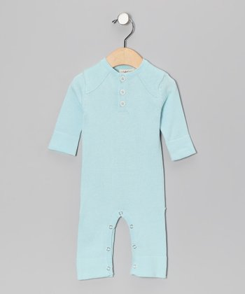 Little Bird Blue Bum Organic Playsuit - Infant