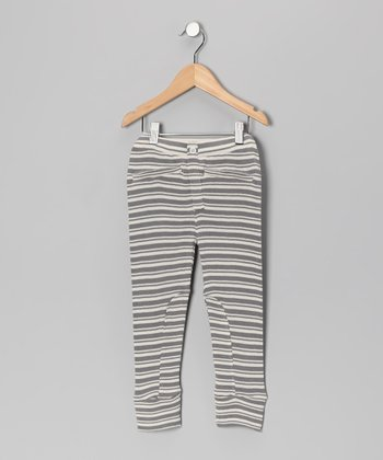 Gray Stripe Organic Leggings - Infant, Toddler & Girls