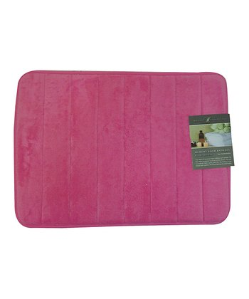 Fuchsia Bright Memory Foam Bath Mat