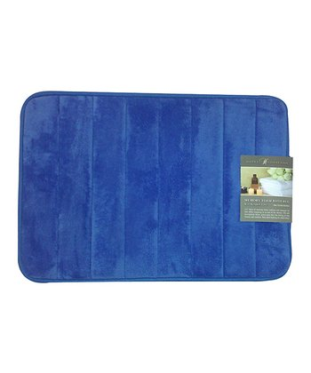 Blue Bright Memory Foam Bath Mat