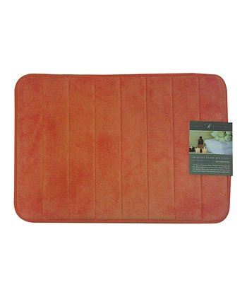 Orange Bright Memory Foam Bath Mat