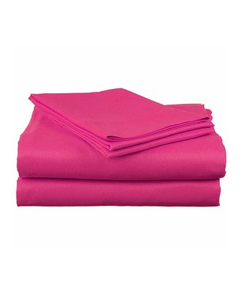 Fuchsia Bright Microfiber Twin XL Sheet Set