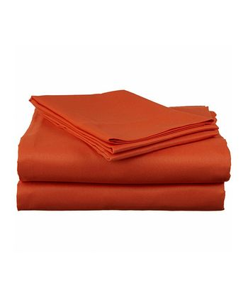 Orange Bright Microfiber Sheet Set