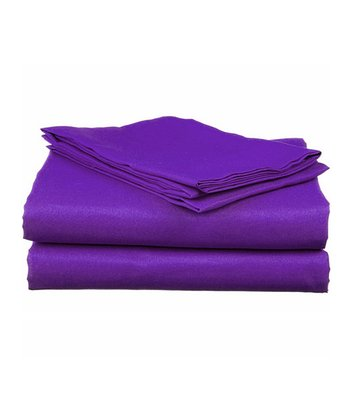 Purple Bright Microfiber Sheet Set