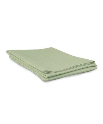 Green Sateen Pillowcase - Set of Two
