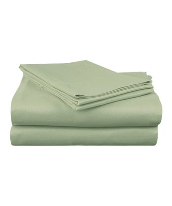 Green Sateen Sheet Set