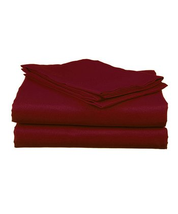 Burgundy Microfiber Sheet Set