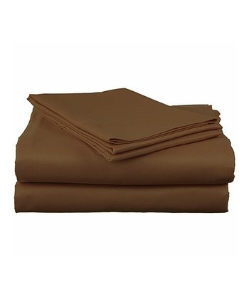 Chocolate Microfiber Sheet Set