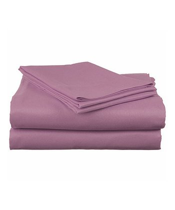 Mauve Microfiber Sheet Set