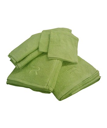 Lime Rampage Six-Piece Towel Set