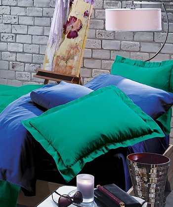 Bright Jade & Deep Blue Rampage Reversible Comforter Set