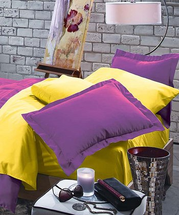 Orchid & Lemon Rampage Reversible Comforter Set