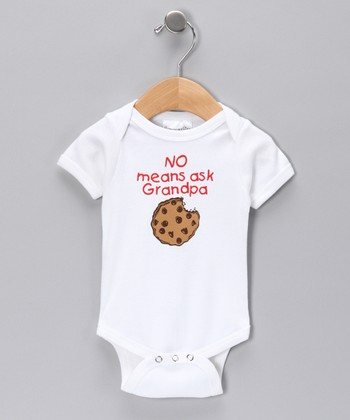 White 'No Means Ask Grandpa' Bodysuit - Infant