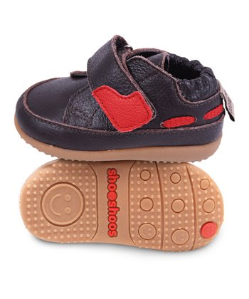 Brown & Red Docksider Smiley Sneaker