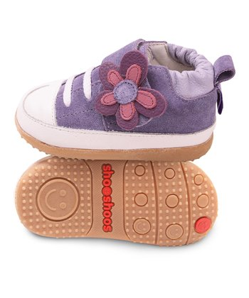 Purple & White Smiley Sneaker