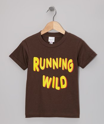 Brown 'Running Wild' Tee - Toddler & Kids