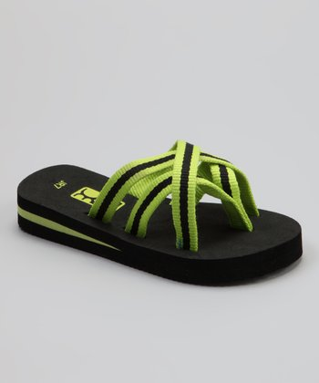 Lime Green Sande Jr. Flip-Flop