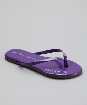 Purple On Avenue Jr. Flip-Flop