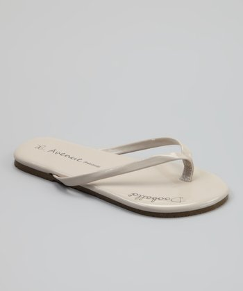 Tan On Avenue Jr. Flip-Flop