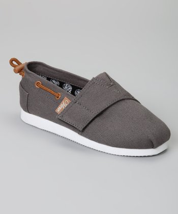 Gray Voyage Slip-On Boat Shoe