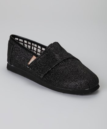Black Voyage Glitter Slip-On Shoe