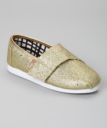 Gold Voyage Glitter Slip-On Shoe