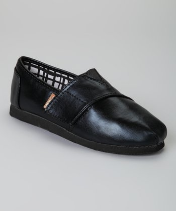 Black Metallic Voyage Slip-On Shoe