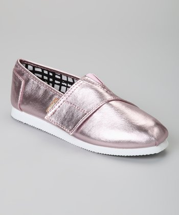 Pink Metallic Voyage Slip-On Shoe