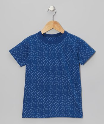 Blue Bubble Polka Dot Tee - Girls