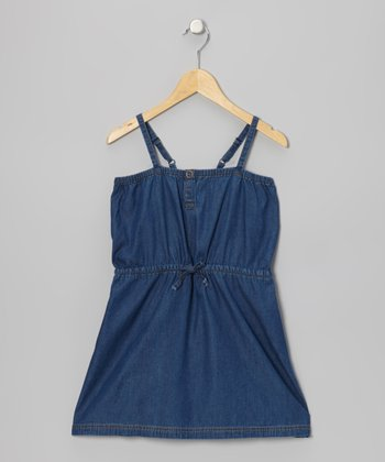 Blue Denim Urban Beach Dress - Girls