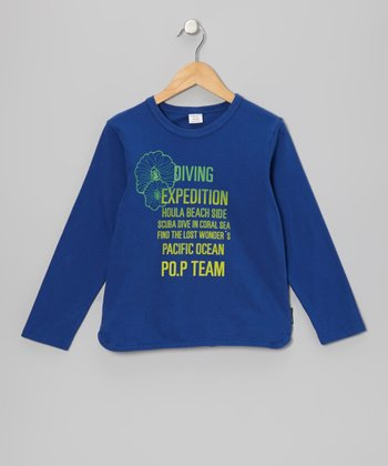 Deep Blue 'Diving Expedition' Top - Girls