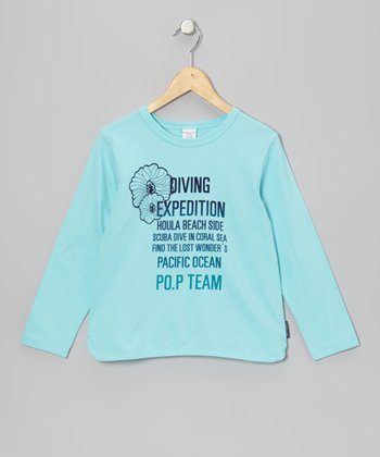 Aqua Sky 'Diving Expedition' Top - Girls