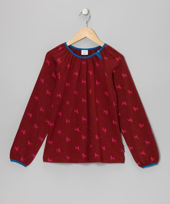 Red Clay Poodle Heart Tunic - Girls