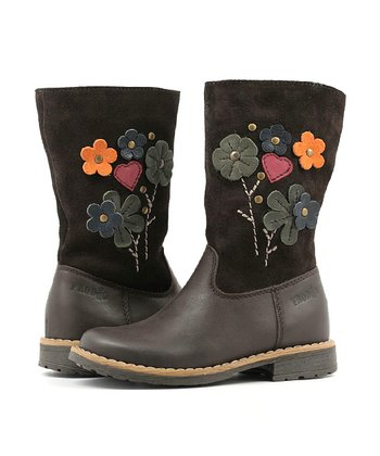 Black Flower Boot