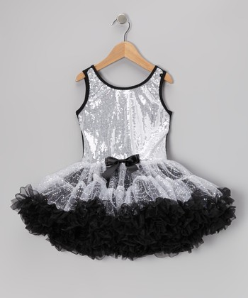 Silver Sequin Sparkle Ruffle Dress - Toddler & Girls