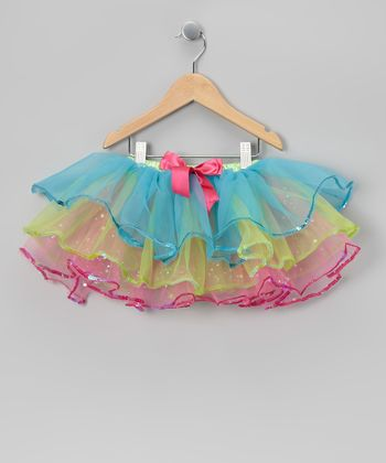 Turquoise Sequin Tutu - Toddler & Girls