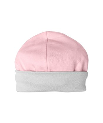 Gray & Pink Organic Reversible Beanie - Infant