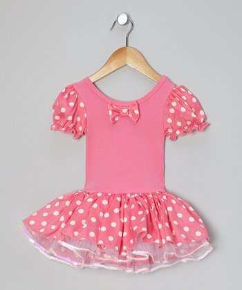 Hot Pink & White Polka Dot Tutu Dress - Infant, Toddler & Girls