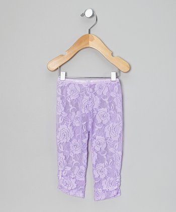 Lavender Lace Leggings - Infant & Toddler